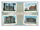 Syracuse, New York - Syracuse University Buildings Scenes Prints by Lantern Press