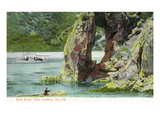 Santa Catalina Island, California - View of Rowboat Near Arch Rock Posters by  Lantern Press