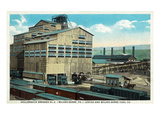 Wilkes-Barre, Pennsylvania - Trains at Lehigh and Wilkes-Barre Coal Company Print by  Lantern Press
