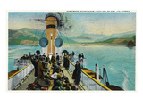 Santa Catalina Island, California - View of Steamer Leaving Island Prints by  Lantern Press