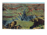 Grand Canyon Nat'l Park, Arizona - Maricopa Point View of Bright Angel Creek Poster von  Lantern Press