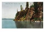 Lake Tahoe, California - Rubicon Point, Where Lake Is 2000 Ft Deep Kunstdrucke von  Lantern Press