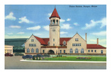 Bangor, Maine - Exterior View of Union Station Prints by  Lantern Press