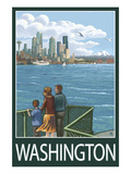 Washington - View from Ferry Prints by  Lantern Press