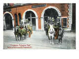 Providence, Rhode Island - Richmond Street Fire Station Art by Lantern Press