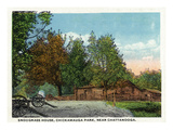 Georgia - Chickamauga Battlefield, View of the Snodgrass House Print by  Lantern Press