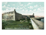 St. Augustine, Florida - Fort San Marco Water Battery Scene Posters by  Lantern Press
