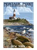 Montauk Point Lighthouse - New York Kunstdrucke von  Lantern Press