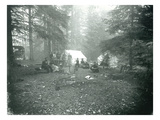 Mt. Hood, Oregon - Camping Scene with Carriage Photograph Poster by  Lantern Press