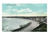 York Beach, Maine - Long Beach Scene Premium Giclee Print by  Lantern Press