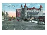 Louisville, Kentucky - Union Station, Louisville and Nashville Office Bldg from Broadway Poster von  Lantern Press