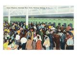 Saratoga Springs, New York - Crowds at Race Track Ticket Windows Plakaty autor Lantern Press
