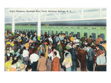 Saratoga Springs, New York - Crowds at Race Track Ticket Windows Posters by  Lantern Press