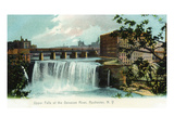 Rochester, New York - Upper Falls of the Genesee River Kunstdrucke von  Lantern Press