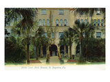 St. Augustine, Florida - Hotel Alcazar Middle Court Scene Poster by  Lantern Press