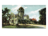 St. Augustine, Florida - Memorial Presbyterian Church View Prints by  Lantern Press