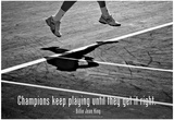 Billie Jean King Champions Quote Láminas