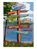 New Hampshire - Sign Destinations Posters by Lantern Press