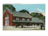 Rockland, Maine - Maine Central Railroad New Station Prints by  Lantern Press