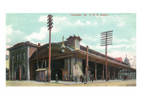 Lancaster, Pennsylvania - Pennsylvania Railroad Station View Prints by  Lantern Press
