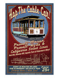 San Francisco, California - Cable Car Poster by  Lantern Press