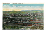 Altoona, Pennsylvania - Aerial View of Red Bridge, Penn Rail Yards Prints by  Lantern Press