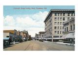 Pasadena, California - Western View Down Colorado Street Posters by  Lantern Press