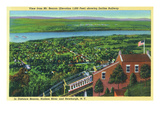 New York - View from Mt. Beacon of Incline Rail, Beacon, Newburgh, and Hudson River Posters by  Lantern Press