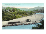 Guerneville, California - Aerial View of the Beach Posters by  Lantern Press