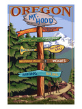 Mt. Hood, Oregon - Spring Destination Sign Posters by  Lantern Press