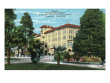 Pasadena, California - Exterior View of Hotel Pasadena Art by  Lantern Press