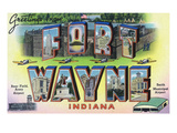 Fort Wayne, Indiana - Large Letter Scenes Posters by  Lantern Press