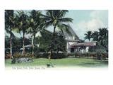 Palm Beach, Florida - Beach Club Exterior View Art by  Lantern Press