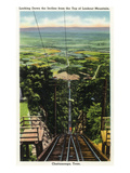 Lookout Mountain, Tennessee - View of Chattanooga from the Top of the Incline Rail Prints by  Lantern Press