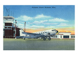 Rochester, Minnesota - Northwest Airplane at Rochester Airport Posters by  Lantern Press
