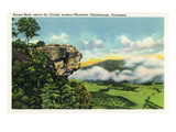 Lookout Mountain, Tennessee - Scenic View from Sunset Rock on the Mountain Posters by  Lantern Press