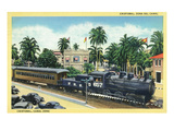 Cristobal, Panama - Train Passing Through the Canal Zone Poster by  Lantern Press