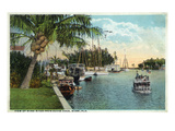 Miami, Florida - Miami River from Budge Dock Print by  Lantern Press