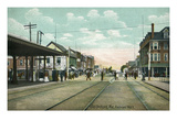 Old Orchard, Maine - View of Railroad Tracks by Station Prints by  Lantern Press
