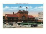 Lexington, Kentucky - Exterior View of Union Station Posters by  Lantern Press