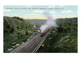 Albany, New York - 20th Century Limited Train View from Northern Blvd Viaduct Prints by Lantern Press