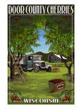 Door County, Wisconsin - Cherry Harvest Prints by Lantern Press