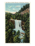 Lookout Mountain, Tennessee - View of Lula Falls Posters by  Lantern Press