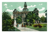 San Jose, California - Exterior View of City Hall Prints by  Lantern Press