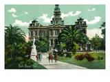 San Jose, California - Exterior View of City Hall Prints by  Lantern Press