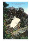 Boulder, Colorado - Royal Arch Near Chautauqua Grounds View Poster by  Lantern Press