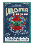 Virginia Blue Crabs Posters by Lantern Press