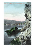 Santa Catalina Island, California - View of Avalon from the Rocks Poster by  Lantern Press