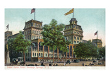 Saratoga Springs, New York - Grand Union Hotel Exterior View Art by  Lantern Press