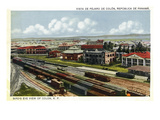 Panama - Aerial View of the Colon Railroad Posters by  Lantern Press